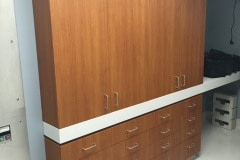 Belbien film installation on patient room cabinets in a central North Carolina hospital.