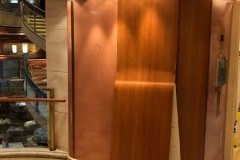 This project was for a global premier cruise line. Over 6000 square feet of lobby walls and columns had faded pink over just a few years. Belbien architectural film was applied to walls and columns in three elevator lobbies and an art gallery. Time to completion was 8 days.