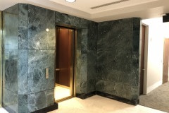 Architectural fusions lobby wall wrap using LG NW068