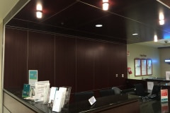 Belbien architectural film installation over an existing Marlite wall panel system for a hospital in the Charlotte area.