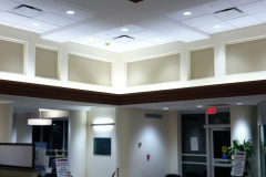 20-inch crown molding wrapped with Belbien film. This project was for a healthcare client out of New Jersey.