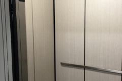 Altyno vinyl woodgrain film was installed in elevator cabs for a client in the Raleigh-Durham area.
