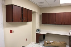Belbien architectural film installation on a nurse's station and cabinets in an eastern North Carolina hospital.