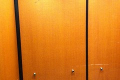 Belbien vinyl woodgrain film was installed in elevator cabs for a client in the Winston Salem area.