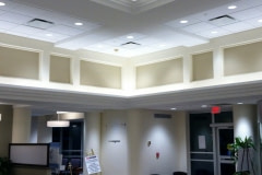 20-inch crown molding before being wrapped with Belbien film. This project was for a healthcare client out of New Jersey.