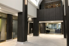 Architectural Fusions lobby renovation using LG Hausys NW068