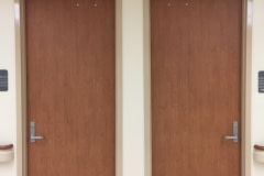 Architectural vinyl film was installed on over 300 main level doors at a hospital in eastern North Carolina.