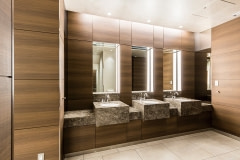 Restroom Walls and Casework Wrapped with Altyno