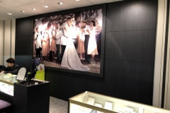 Altyno film installation on a wall and cabinet wrap for a national retailer.
