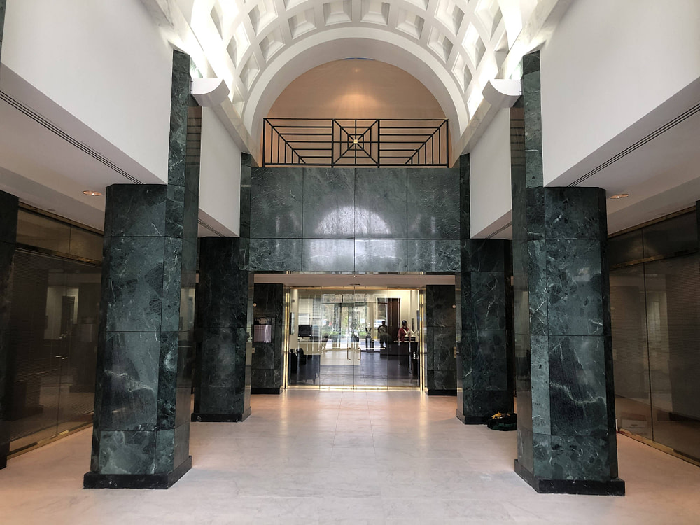 Lobby renovation using architectural fusions