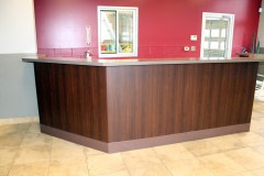 Architectural Fusions used Altyno to wrap an automotive retail store's desk, cabinets, and restroom doors.