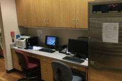Belbien film installation on a nurse's station at a hospital in western North Carolina.